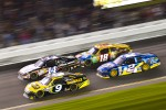 Marcos Ambrose, Richard Petty Motorsport Ford, Tony Stewart, Stewart-Haas Racing Chevrolet, Brad Keselowski, Penske Racing Dodge, Kyle Busch, Joe Gibbs Racing Toyota