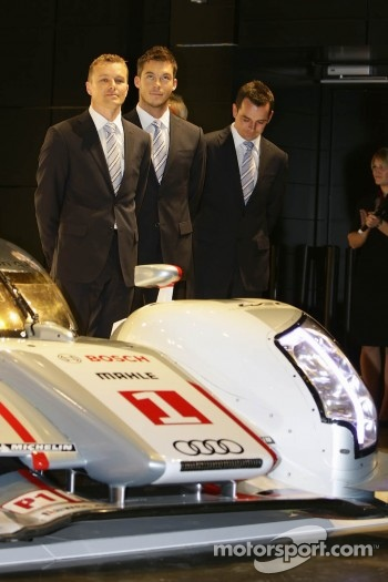 Marcel Fassler, Andre Lotterer and Benoit Trluyer 