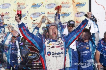 Victory lane: race winner Elliott Sadler
