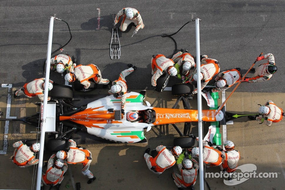 Paul di Resta, Sahara Force India Formula One Team pit stop