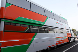 Force India transporter