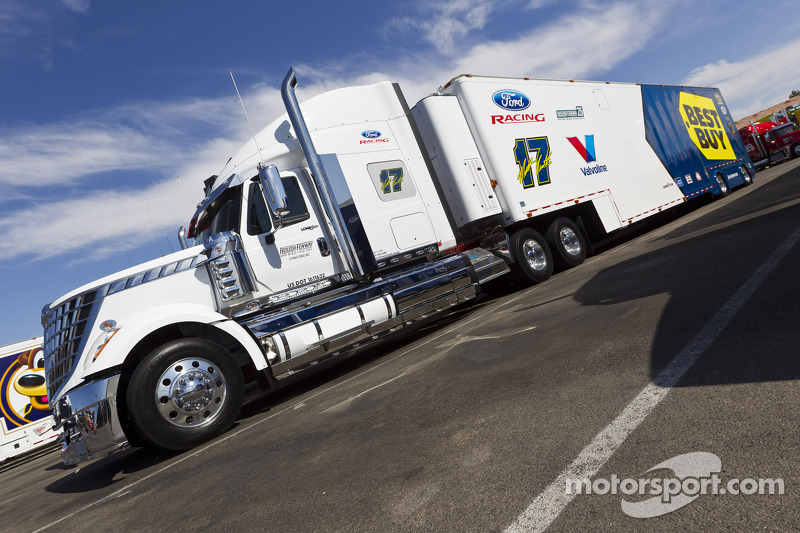 The hauler of Matt Kenseth, Roush Fenway Racing Ford
