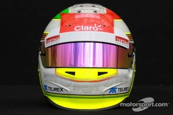 Sergio Perez, Sauber F1 Team helmet 