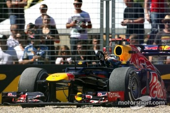 Sebastian Vettel, Red Bull Racing goes off the track on FP3