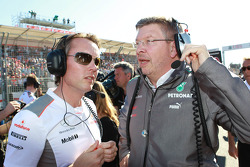 Sam Michael, McLaren with Ron Dennis, McLaren, Team Principal, Chairman