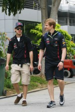 Sebastian Vettel, Red Bull Racing with his Personal Trainer Heikki Huovinen