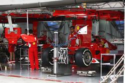 Ferrari F2012 in the garage