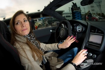 Cyndie Allemann tries the Audi R8 GT Spyder