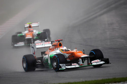 Paul di Resta, Sahara Force India leads team mate Nico Hulkenberg, Sahara Force India F1