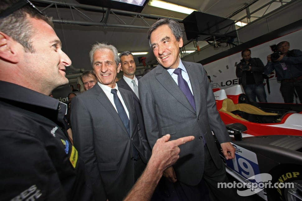 French Prime Minister Franois Fillon with Nicolas Minassian