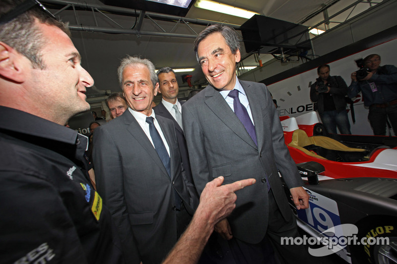French Prime Minister François Fillon with Nicolas Minassian
