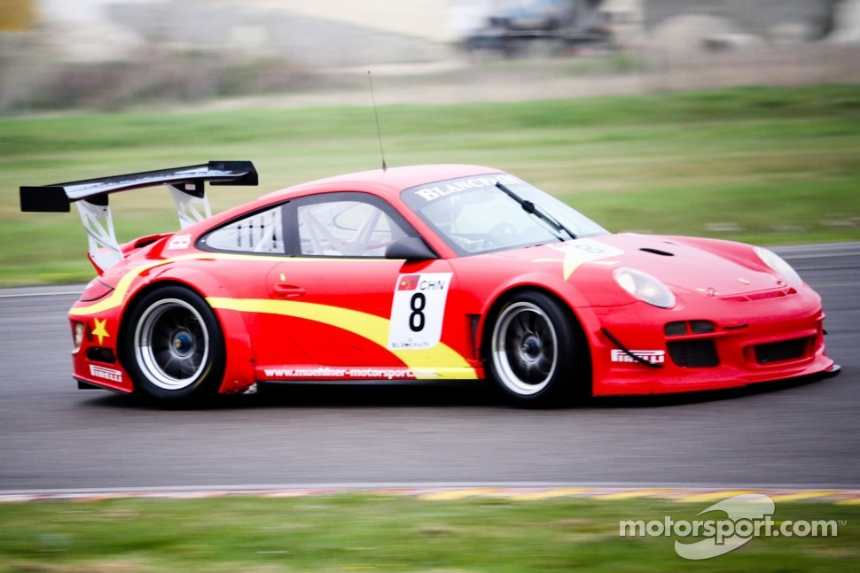 #8 Exim Bank Team China Porsche 911 GT3 R: Benjamin Lariche, Ren Wei