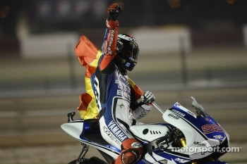 Race winner Jorge Lorenzo, Yamaha Factory Racing celebrates