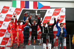 Podium: race winner Gregory Guilvert, Marc Sourd, second place Stefano Gai and Michael Lyons, third place Dominik Baumann, Maximilian Buhk