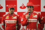 Felipe Massa, Scuderia Ferrari with team mate Fernando Alonso, Scuderia Ferrari at a Santander Press Call