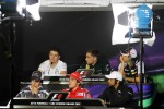 The FIA Press Conference, Sahara Force India F1; Vitaly Petrov, Caterham; Bruno Senna, Williams; Sergio Perez, Sauber F1 Team; Fernando Alonso, Scuderia Ferrari; Narain Karthikeyan, Hispania Racing F1 Team
