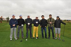 Marcello Lotti, CEO KSO and drivers at the golf club.