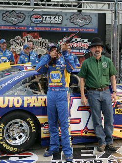 Pole winner Martin Truex Jr., Michael Waltrip Racing Toyota
