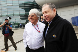 Jean Todt, FIA President with Bernie Ecclestone, CEO Formula One Group