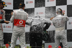 Jenson Button, McLaren Mercedes with Norbert Haug, Mercedes AMG Petronas
