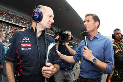 Adrian Newey, Red Bull Racing Chief Technical Officer with David Coulthard, Red Bull Racing and Scuderia Toro Advisor / BBC Television Commentator