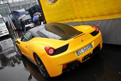 Who does this Ferrari 458 Italia belong to?