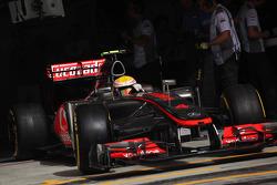 Lewis Hamilton, McLaren Mercedes leaves the pits