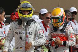 Nico Rosberg, Mercedes AMG Petronas and Lewis Hamilton, McLaren Mercedes