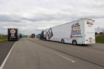 Truck haulers with Landon Cassill's hauler