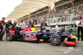 Mark Webber, Red Bull Racing on the grid