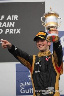 3rd place Romain Grosjean, Lotus Renault F1 Team