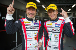 GT300 pole winners Tetsuya Tanaka and Katsuyuki Hiranaka