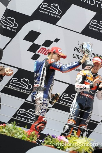 Podium: second place Jorge Lorenzo, Yamaha Factory Racing