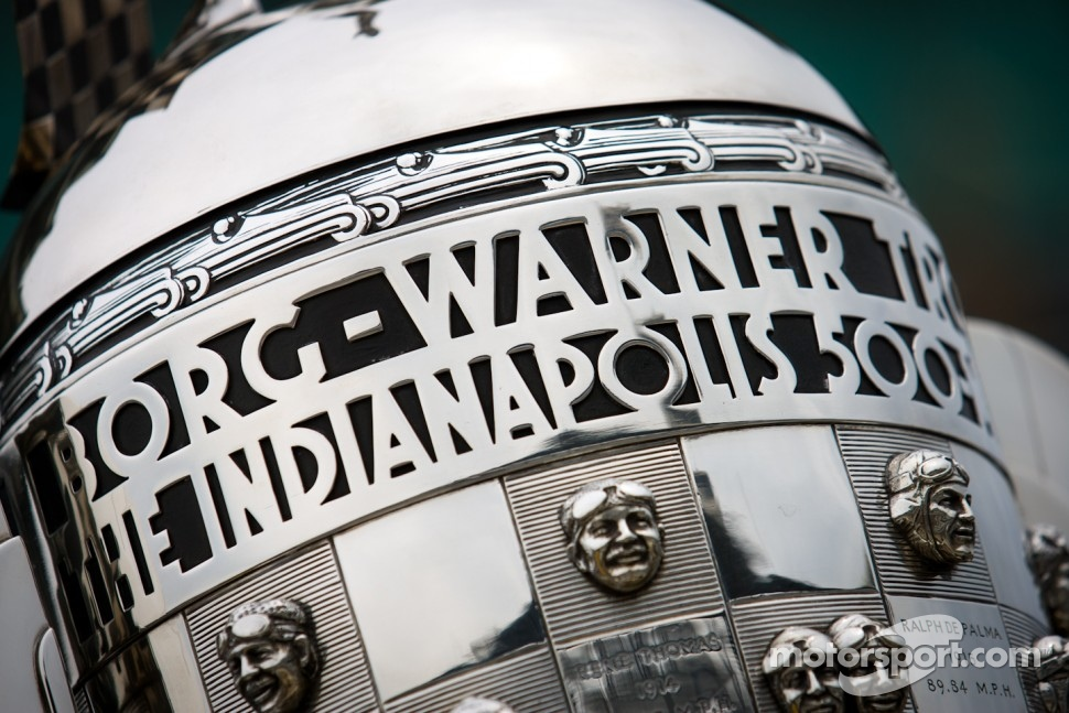 Borg-Warner trophy on display