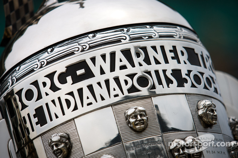 Borg-Warner trophy on display