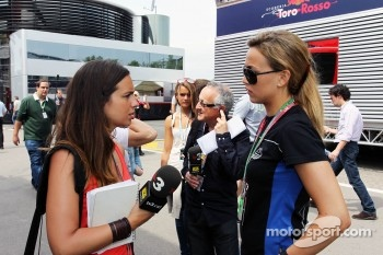 Laia Ferrer, TV3 with GP3 driver Carmen Jorda, Ocean Racing Technology