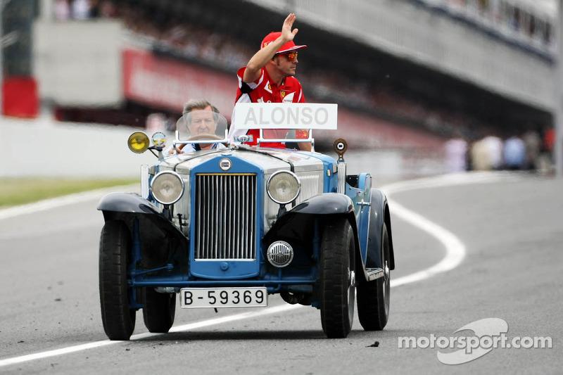 Fernando Alonso, Scuderia Ferrari on the drivers parade