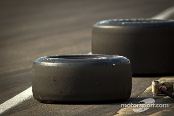 Tires ready for a pitstop practice