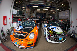 #14 Manthey Racing Porsche 911 GT3 Cup and #10 Manthey Racing Porsche 911 GT3 R