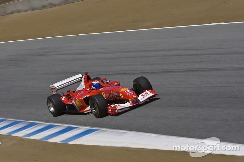 Marc Gene in Bud Moeller's Ferrari F2003-GA historic Formula 1 car