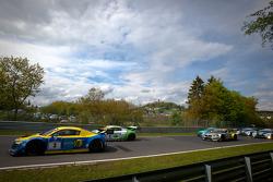 Formation lap: #3 Audi Sport Team Phoenix Audi R8 LMS Ultra: Marc Basseng, Christopher Haase, Frank Stippler, Markus Winkelhock