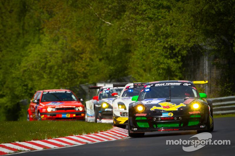 #8 Haribo Racing Team Porsche 911 GT3 R: Christian Menzel, Emmanuel Collard, Mike Stursberg, Hans Guido Riegel