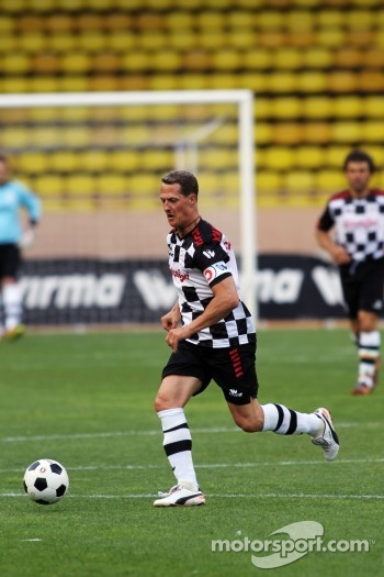 Michael Schumacher, Mercedes AMG F1 at the charity football match