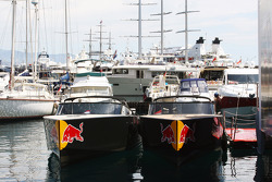 Red Bull boats in the harbour