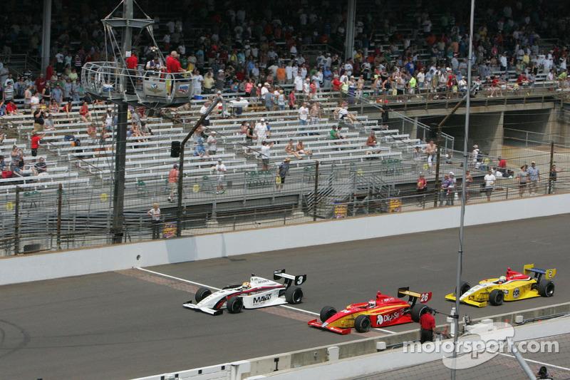 Victor Carbone, Sam Schmidt Motorsports, Carlos Munoz, Andretti Autosport and Gustavo Yacaman, Team Moore Racing