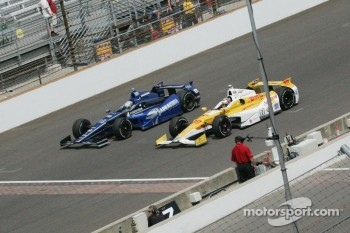 Alex Tagliani, Bryan Herta Autosport w/Curb Agajanian Honda and Ryan Hunter-Reay, Andretti Autosport Chevrolet
