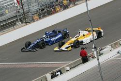 Alex Tagliani, Bryan Herta Autosport w/Curb Agajanian Honda and Ryan Hunter-Reay, Andretti Autosport Chevrolet