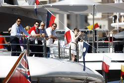 Fans on boats
