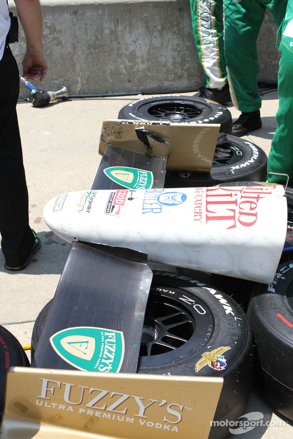 The nose of Ed Carpenter, Ed Carpenter Racing Chevrolet