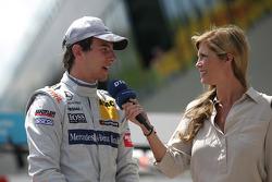 Christian Vietoris, Team HWA AMG Mercedes, AMG Mercedes C-Coupe with Verena Wriedt